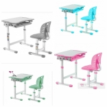 Детская парта и стул Fundesk Piccolino III Blue, Pink, Grey, Green