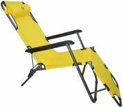 Шезлонг лежак Bonro 178 см жовтий