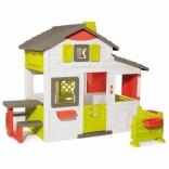 Будинок для друзів Smoby з дверним дзвінком, столиком та огорожею